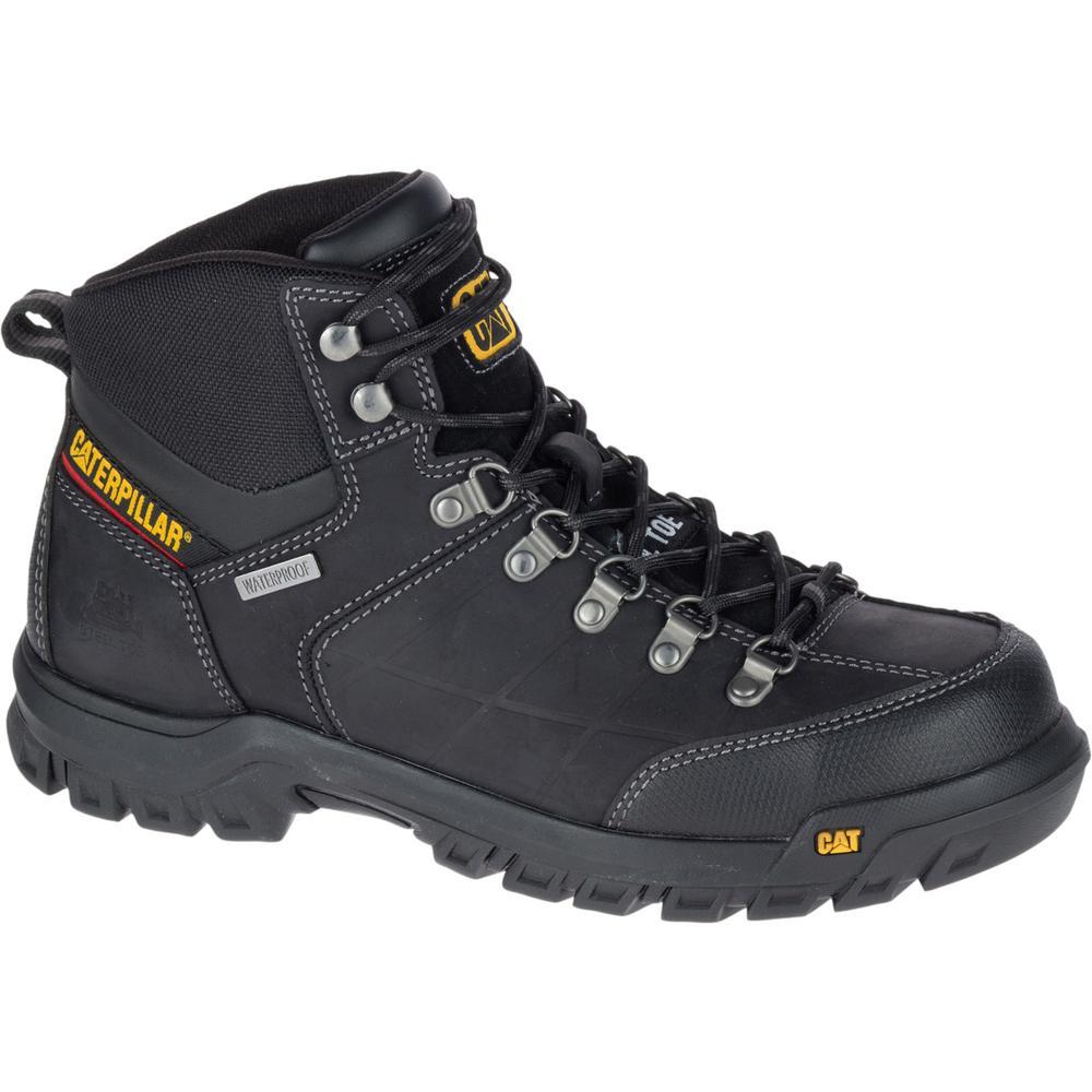 c48cea777ce CAT Footwear Threshold Men's Size 11M Black Waterproof Steel Toe  Boots-P90936 - The Home Depot