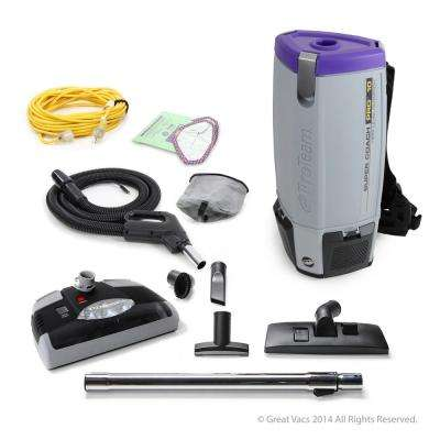 NEW Proteam Super Coach Pro 10 qt. Backpack Vacuum Cleaner with Power Head