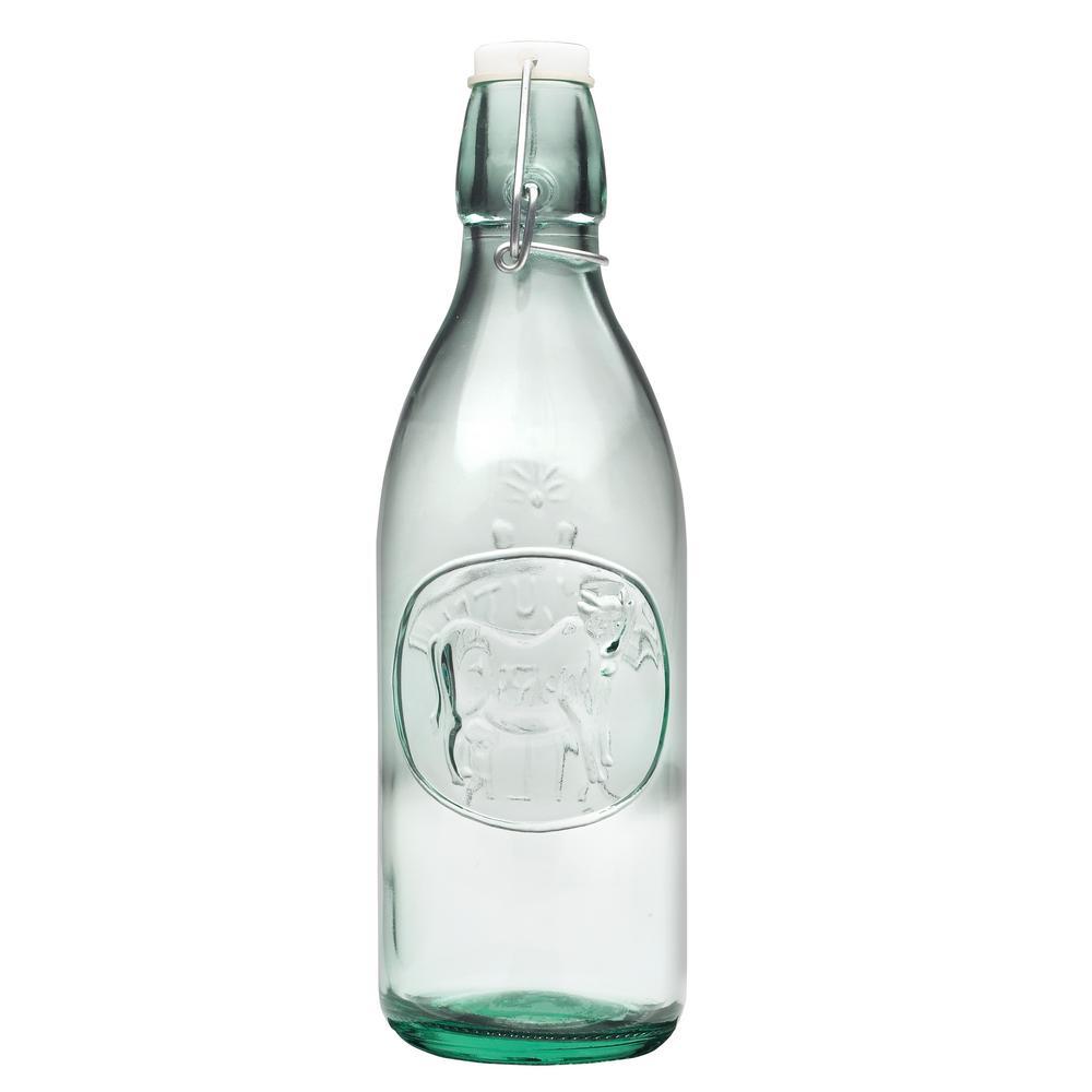 eb6ba345353d Milk Cow Themed 34 oz. Glass Bottle