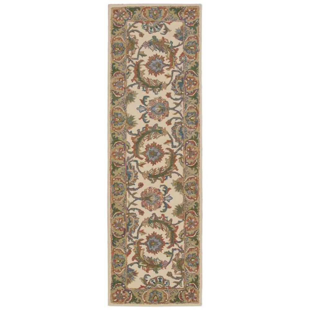 Nourison India House Ivory Gold 2 Ft 3 In X 7 Ft 6 In