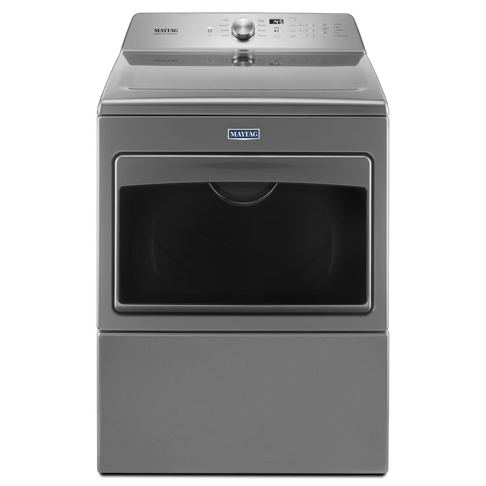 Maytag 7.4 cu. ft. Electric Dryer with IntelliDry Sensor in Metallic Slate