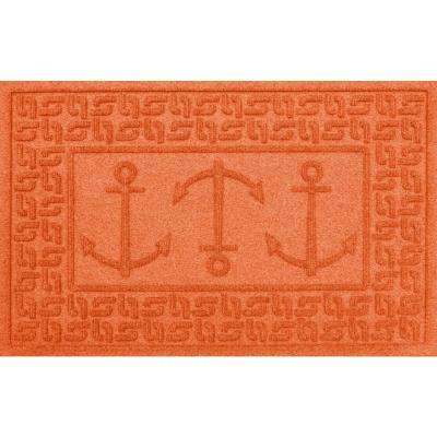 Orange 24 in. x 36 in. Ahoy! Polypropylene Door Mat