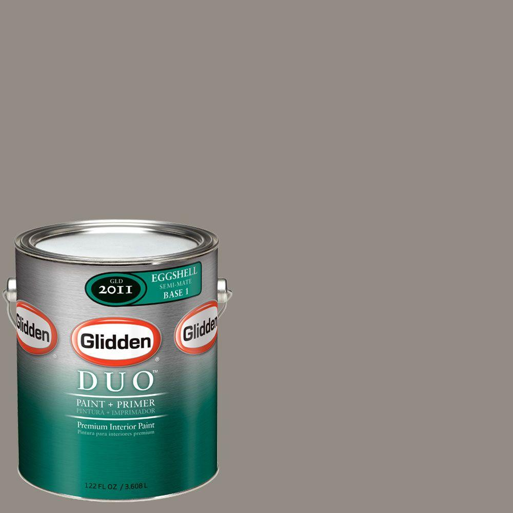 Glidden DUO Martha Stewart Living 1-gal. #MSL243-01E Gray Squirrel Eggshell Interior Paint with Primer-DISCONTINUED