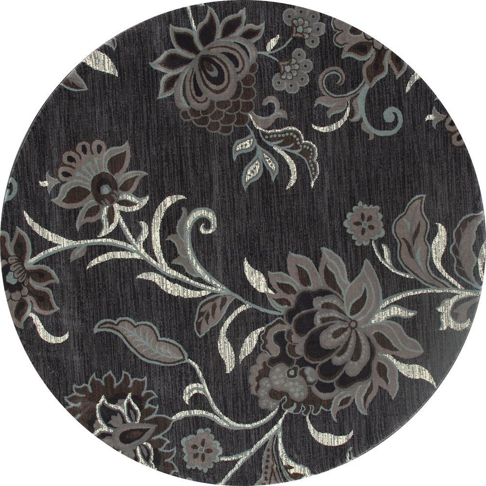 Art Carpet London Elloise Gray 8 Ft. X 8 Ft. Round Area