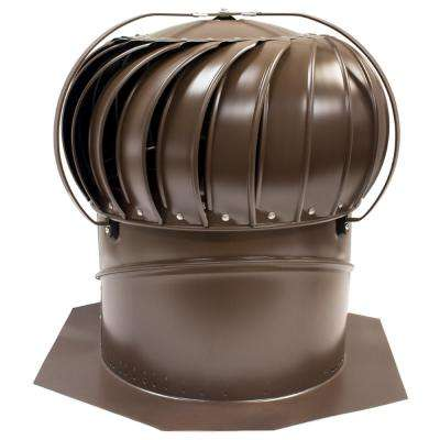 12 in. Brown Aluminum Externally Braced Wind Turbine