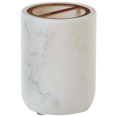 Larissa Toothbrush Holder in White