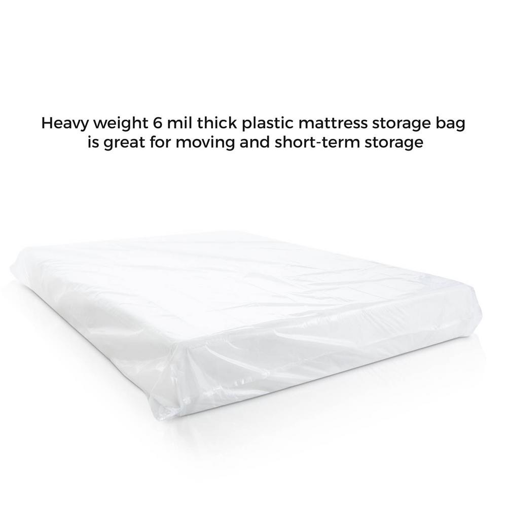 Linenspa Queen Size Extra Heavy Duty Sealable 6 Mil Mattress Bag