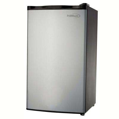 3.2 cu. ft. Mini Fridge with Stainless Steel Door