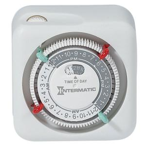 Intermatic 15-Amp Plug-In Lamp and Appliance Timer - White by Intermatic