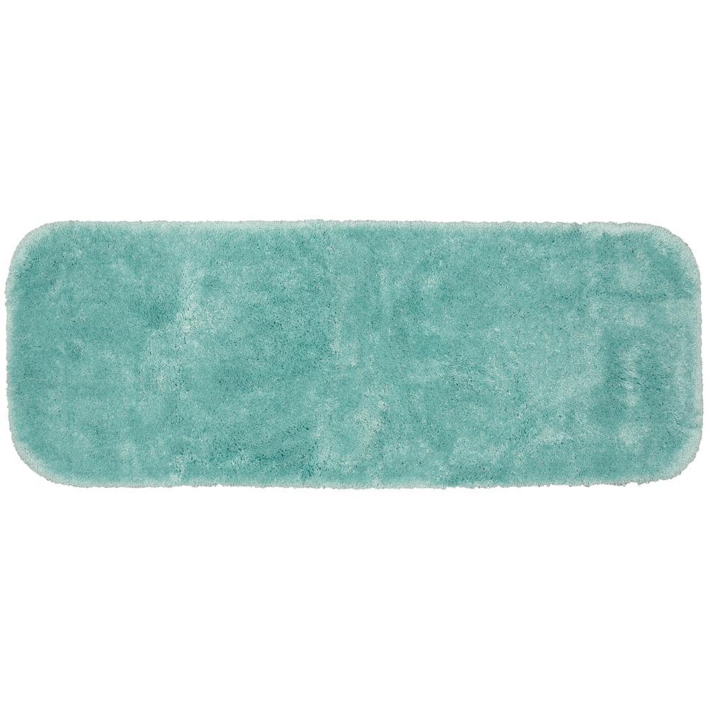 Finest Luxury Sea Foam 22 in. x 60 in. Plush Nylon Bath Mat