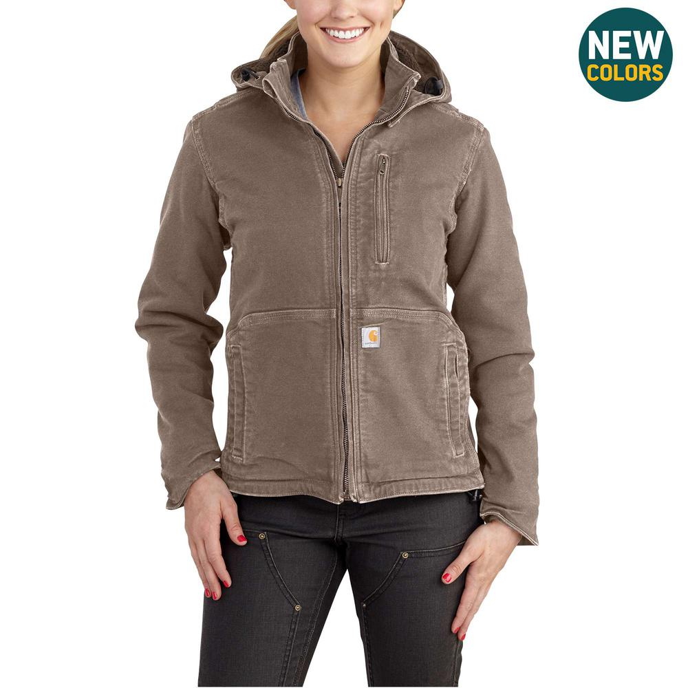 466d357a25595 Women's X-Small Taupe Gray/Shadow Sandstone Full Swing Caldwell Duck Jacket