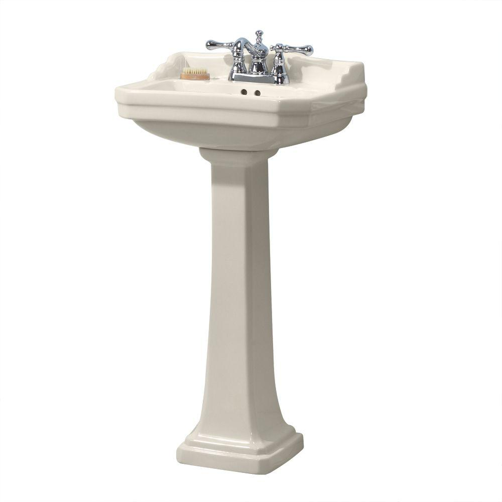 Foremost series 1920 vitreous china pedestal sink combo in for Foremost home