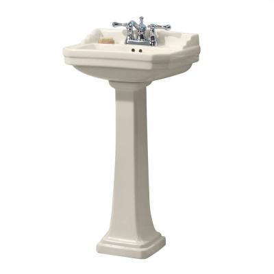 Series 1920 Vitreous China Pedestal Sink Combo in Biscuit