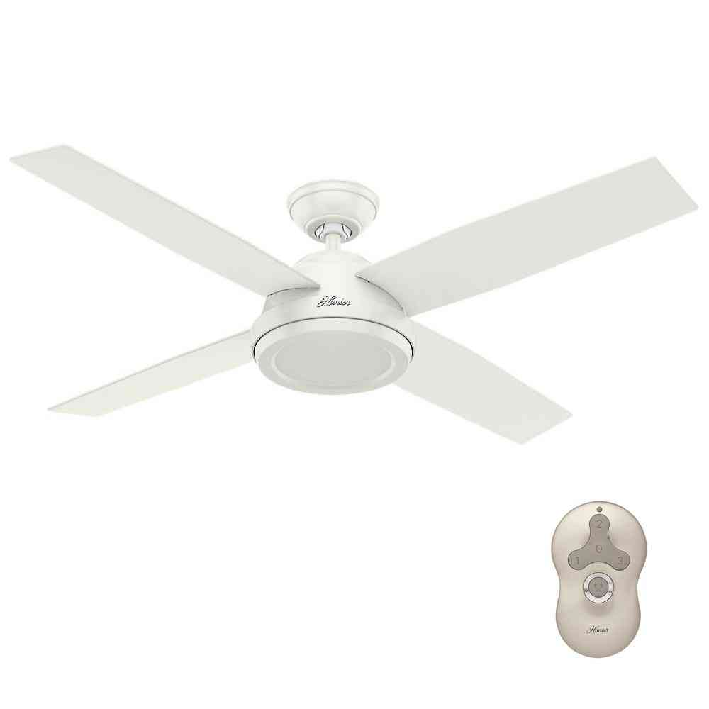 Hunter Dempsey 52 in. Indoor Fresh White Ceiling Fan with Remote - Sale: $134.99 USD