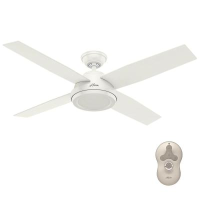 Dempsey 52 in. Indoor Fresh White Ceiling Fan with Remote Control