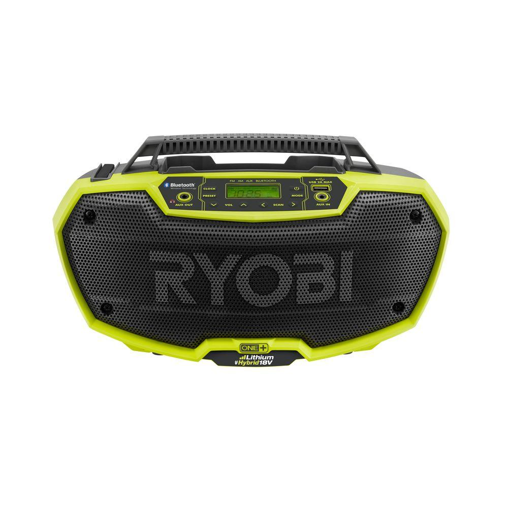 Ryobi 18-Volt ONE+ Hybrid Stereo with Bluetooth Wireless Technology