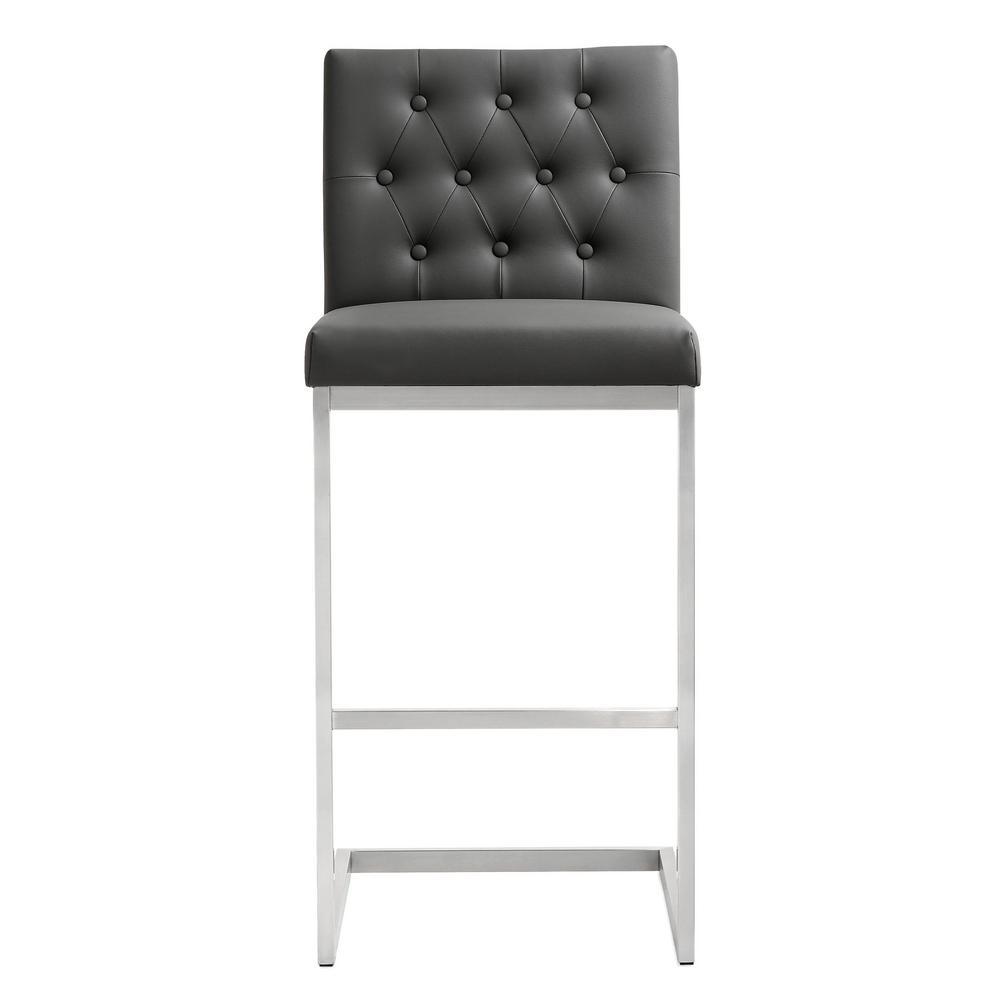 Tov Furniture Helsinki Grey Steel Bar Stool Set Of 2 Tov