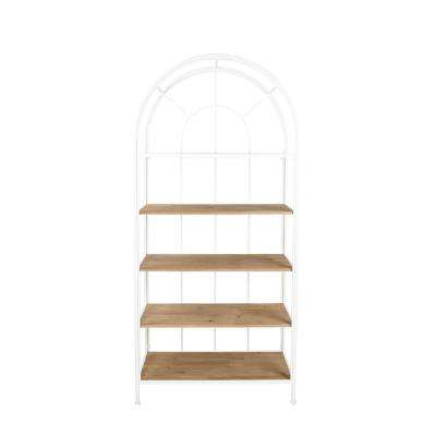 White Metal Framed Bookshelf