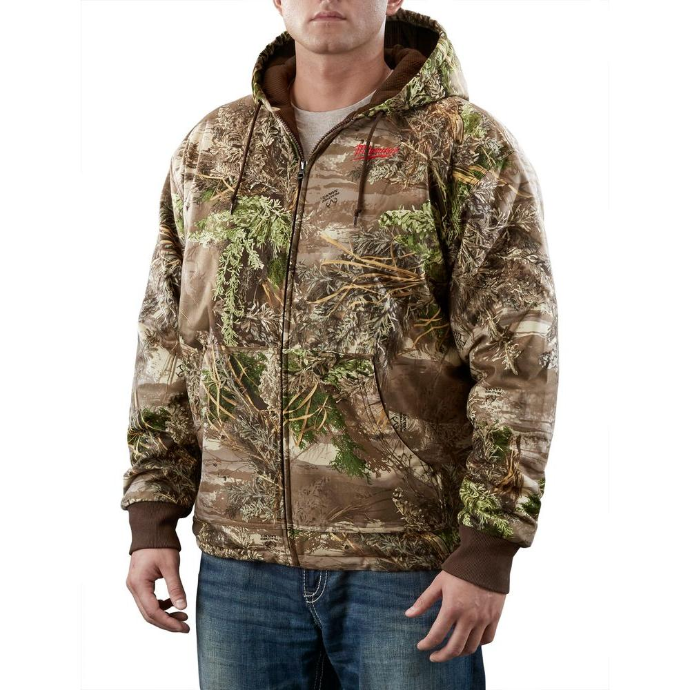 Milwaukee Unisex Large M12 Cordless Lithium-Ion Realtree Max-1 Camo Heated Hoodie Kit (Battery and Charger Included)
