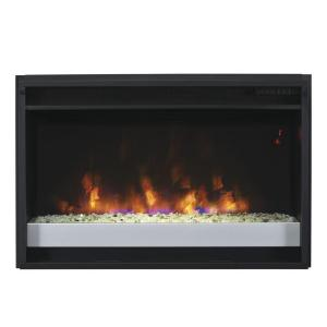 26 in contemporary electric fireplace insert with flush for Contemporary fireplace insert