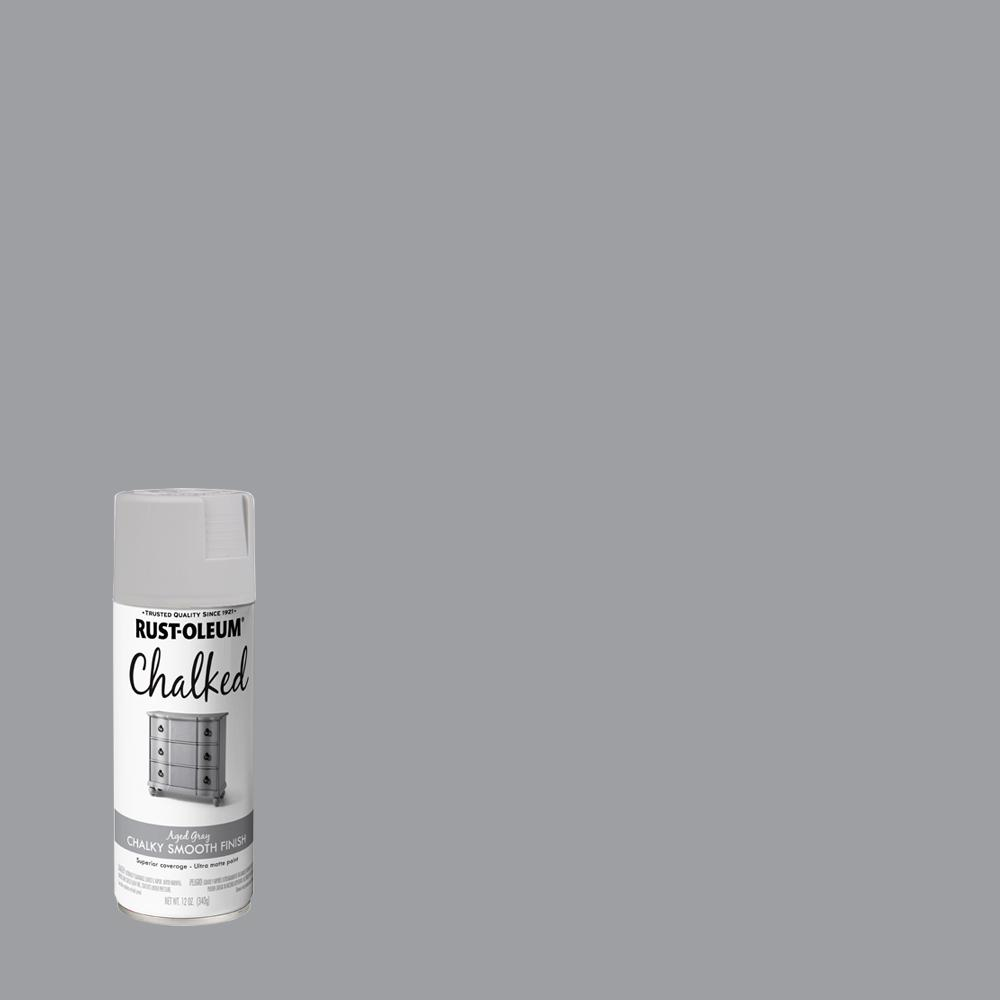 Rust-Oleum 12 oz. Chalked Aged Gray Ultra Matte Spray Paint