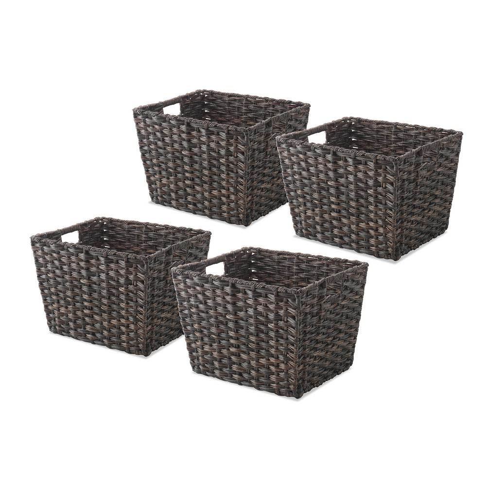 Whitmor 0.2 Gal. Driftwood Storage Tote (Set of 4)  sc 1 st  Home Depot & Whitmor 0.2 Gal. Driftwood Storage Tote (Set of 4)-60841054DW - The ...