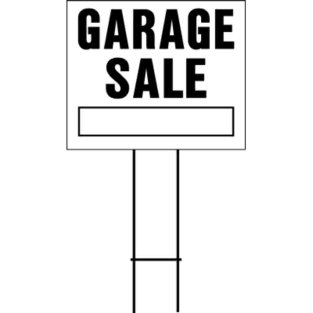 Hy Ko 20 In X 24 In Plastic Garage Sale Sign Lgs 2 The Home Depot