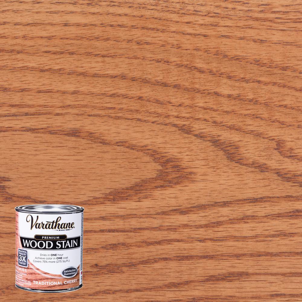 Varathane 1 qt. Traditional Cherry Premium Fast Dry Interior Wood Stain