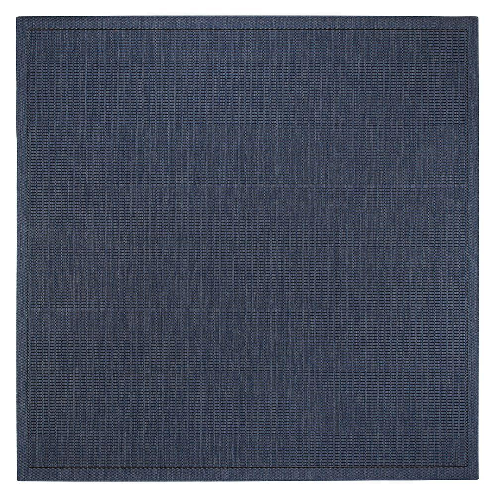 Home decorators collection saddlestitch blue black 8 ft 6 for Home decorators rugs blue