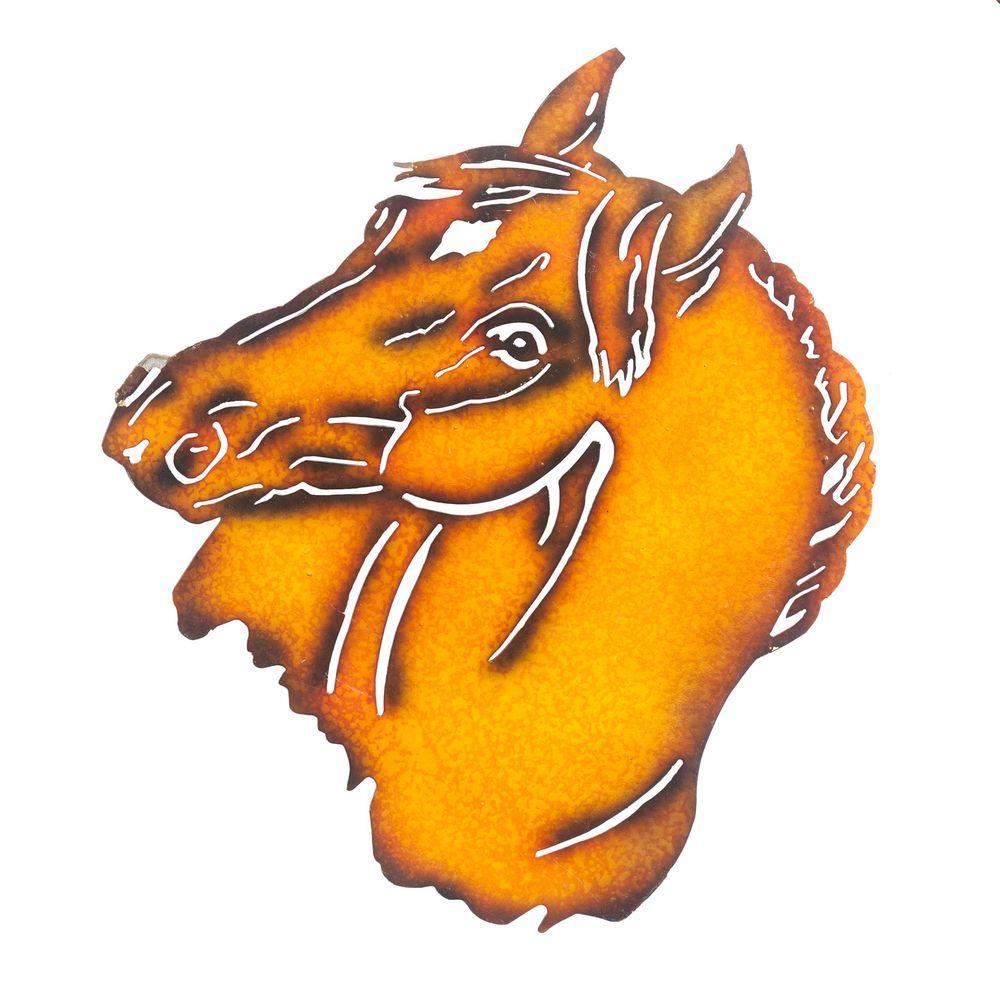 Sunjoy Horse Metal Outdoor Wall Art-110311023 - The Home Depot