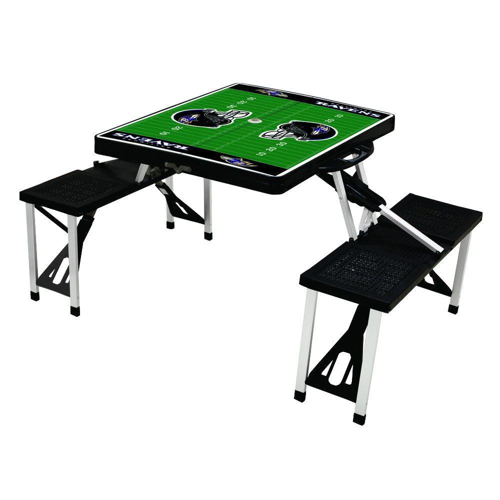 Baltimore Ravens Sport Plastic Outdoor Patio Picnic Table