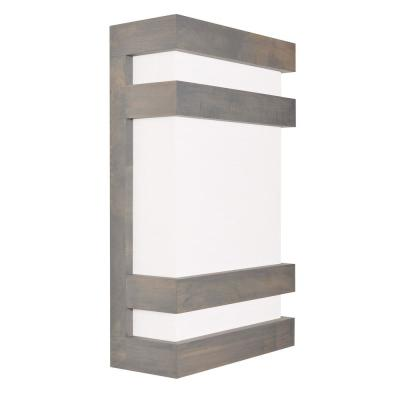 Wells 4 in. Weathered Grey LED Sconce