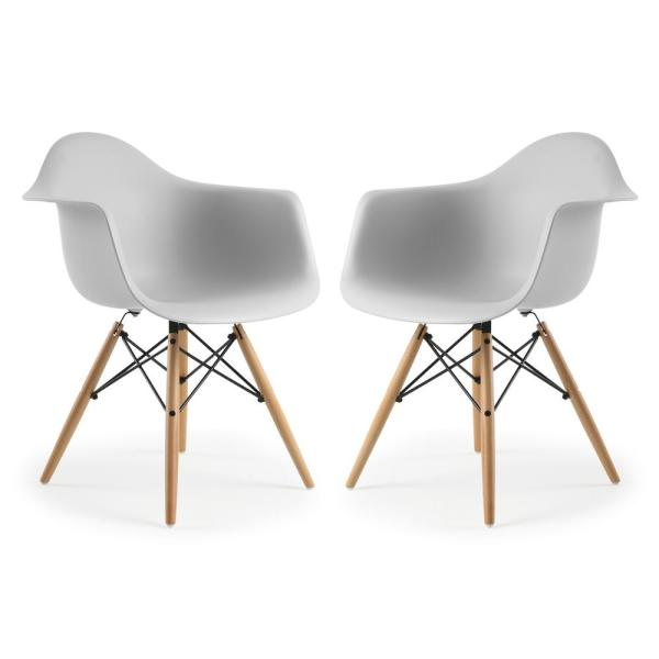 Poly and Bark Vortex Harbor Grey Arm Chair (Set of 2)