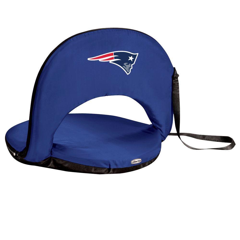 Oniva New England Patriots Navy Patio Sports Chair with Digital Logo