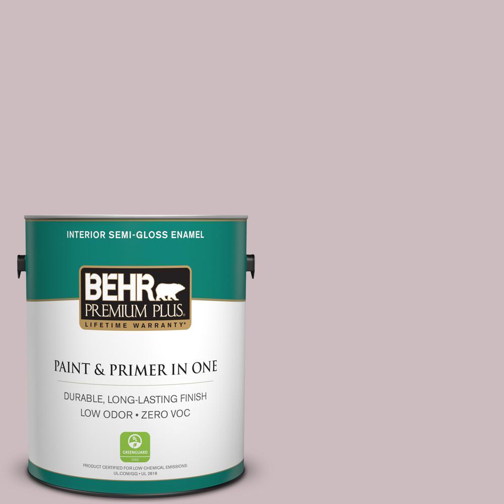 BEHR Premium Plus 1-gal. #100E-3 Pastel Violet Zero VOC Semi-Gloss Enamel Interior Paint