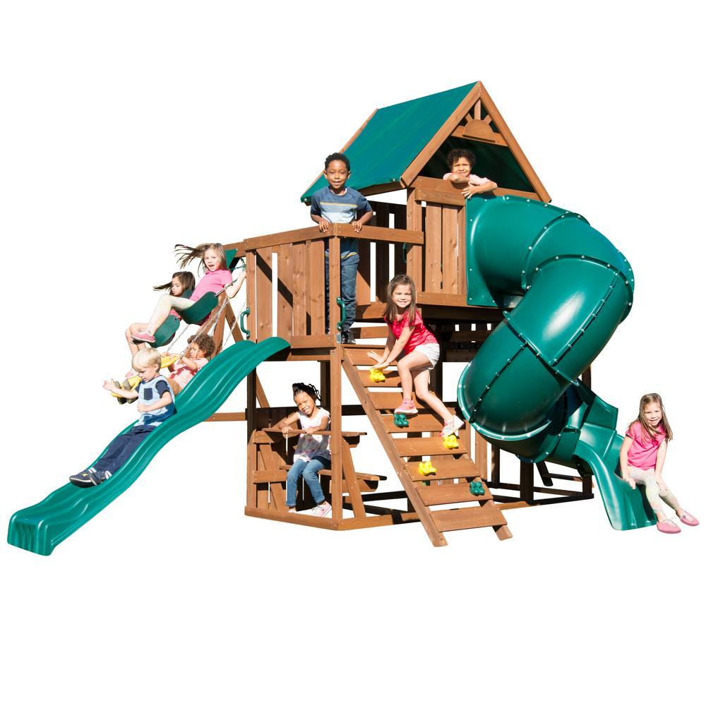 swing n slide playsets denali tower ready to assemble playset ws 8358 the home depot. Black Bedroom Furniture Sets. Home Design Ideas