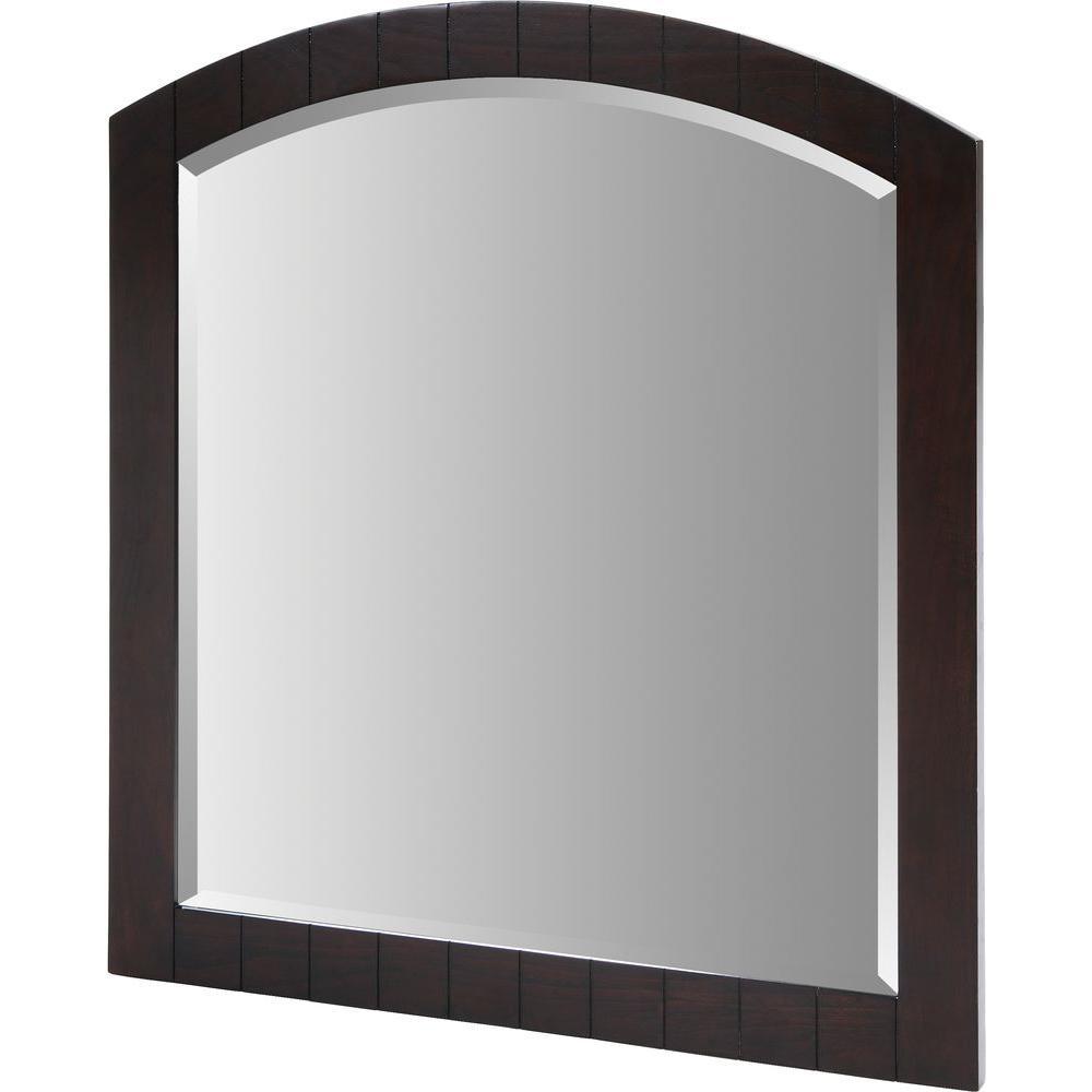 RYVYR Kara 40 in. x 36 in. Dark Espresso Framed Wall Mirror