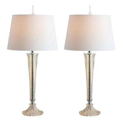 Caterina 32 in. Champagne Glass LED Table Lamp (Set of 2)