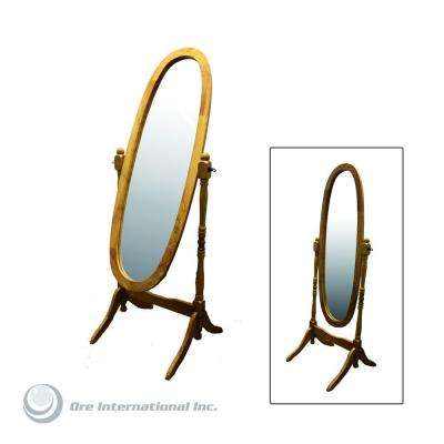 59-1/4 in. H x 20 in. W Cheval Framed Floor Mirror in Natural