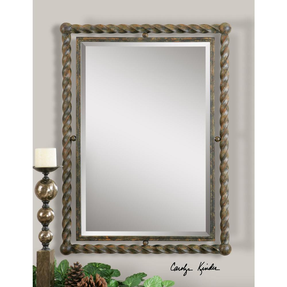 Global Direct 35 in. x 25.5 in. Wrought Iron Framed Mirror