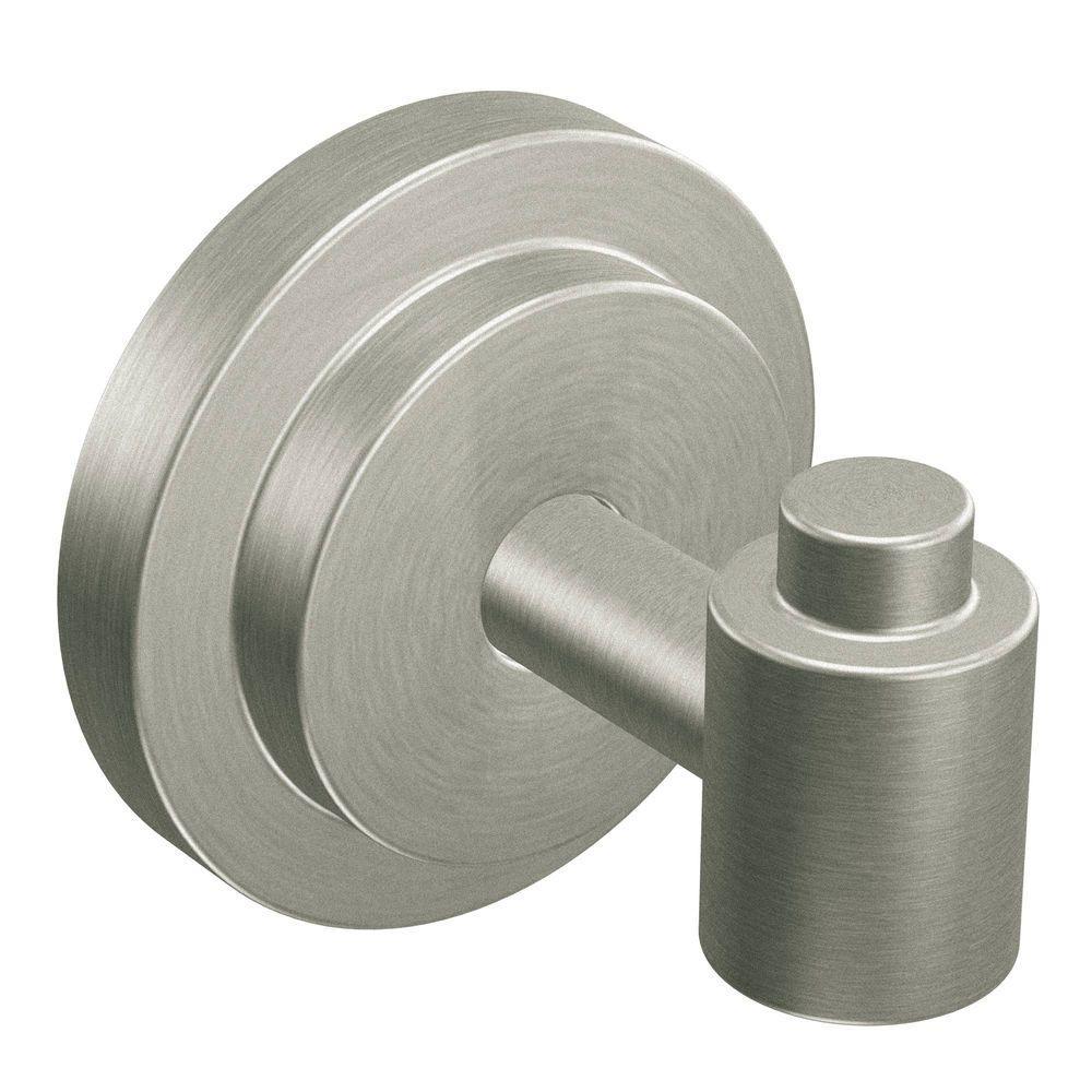 ISO Single Robe Hook in Spot Resist Brushed Nickel