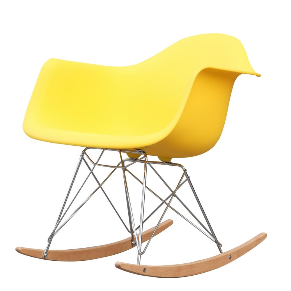 Yellow Rocker Arm Chair