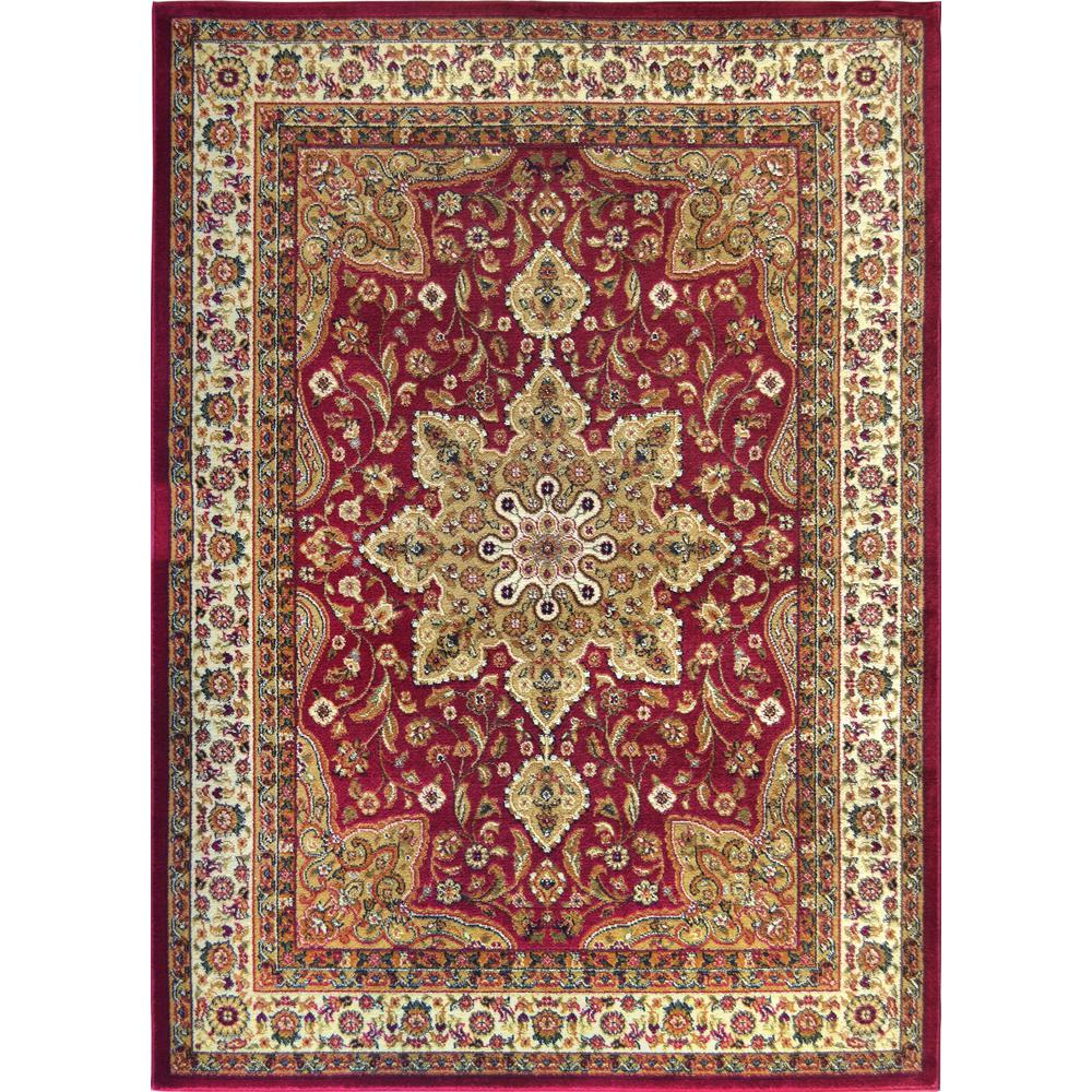 Home Dynamix Royalty Red 5 Ft X 7 Indoor Area Rug