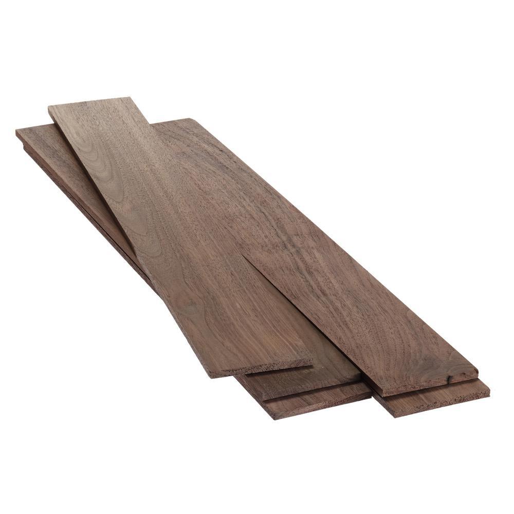 1/4 in. x 3-1/2 in. x 2 ft. Select Walnut KD S4S Board (5-Pack)
