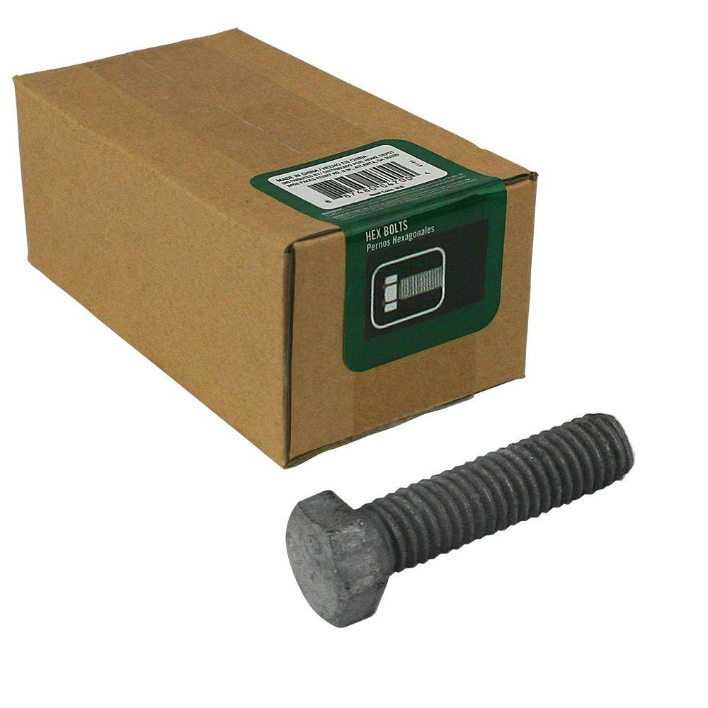 3/8 in. x 1-1/2 in. Galvanized Hex Bolt (15-Pack)