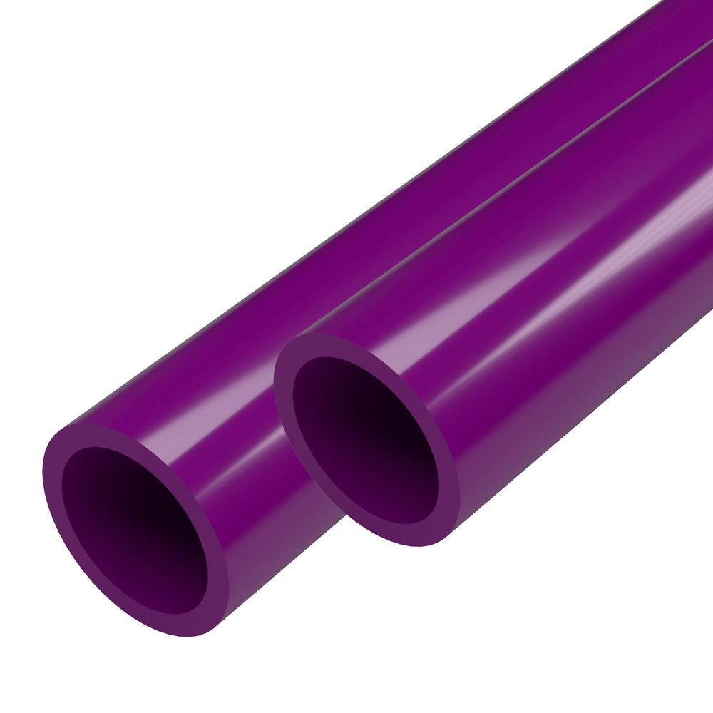 1 in. x 5 ft. Purple Furniture Grade Schedule 40 PVC Pipe (2-Pack)
