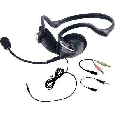 VoIP All-In-One Foldable Headset, Black