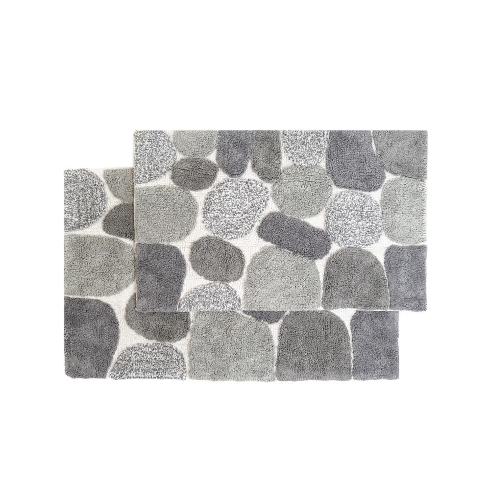 Chesapeake Merchandising Pebbles 24 In X 40 In 2 Piece