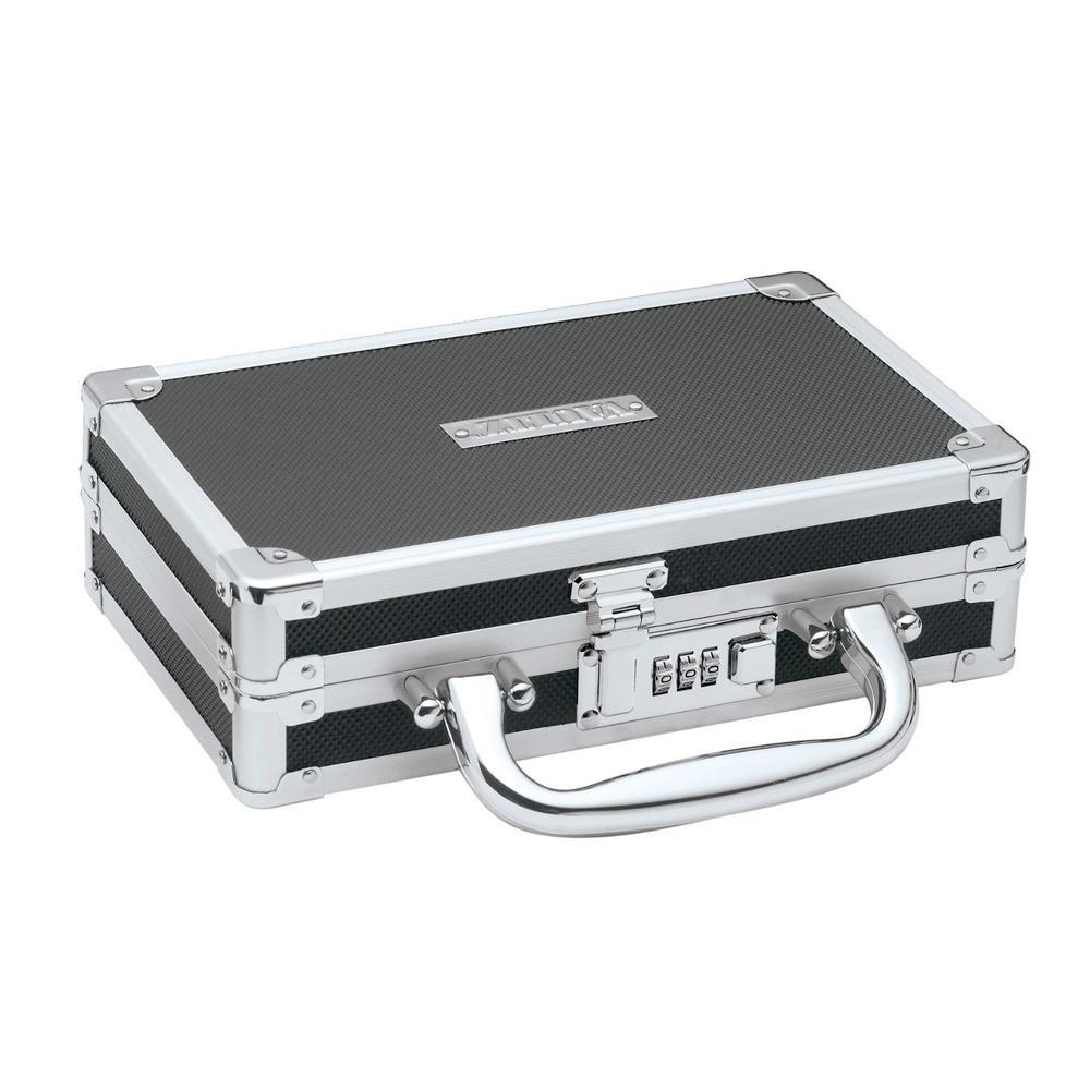 Vaultz Locking Medicine Case with Handle Combination Lock, Black