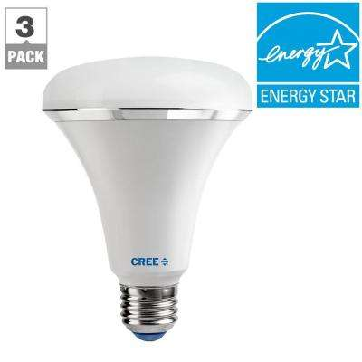 65W Equivalent Daylight (5000K) BR30 Dimmable LED Light Bulb (3-Pack)